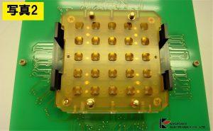 非磁性ICソケットとプリント基板